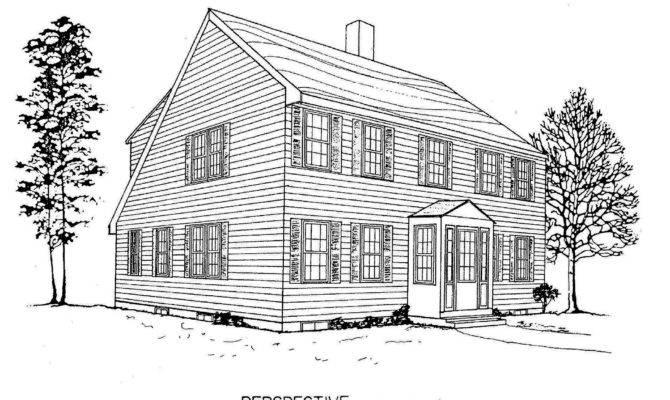 Saltbox House Plans Floor