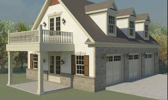 Same Idea Our Above Garage Apt But Balcony Would
