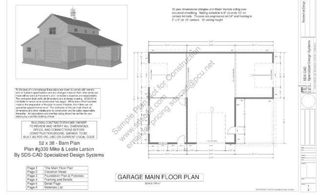 Sample Barn Plan