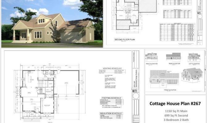 Sample Cottage House Plans Barn Blueprints