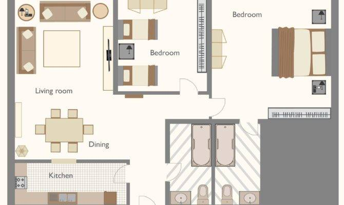 Sample Crystal Living Courts Bedroom Apartment Layout