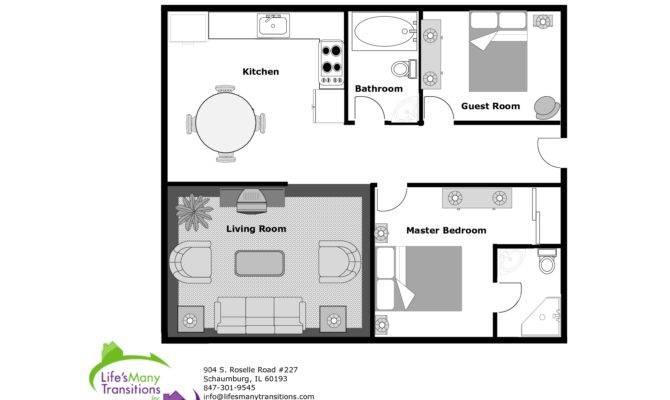 Sample Floor Plan Kitchen Bathroom Guest Room Living