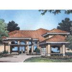 San Marcos Adobe Home Plan House Plans More