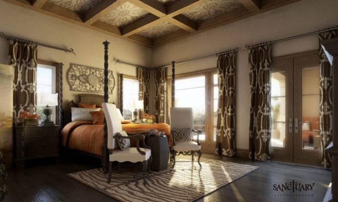 Sanctuary Visualization Tuscan Style Master Bedroom