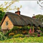 Sandy Lane Thatched Cottage Wiltshire England
