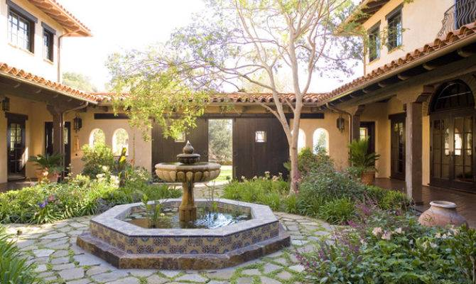 Santa Ynez Ranch Courtyard Mediterranean Landscape