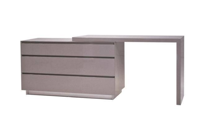 Savvy Grey Glass Top Extension Desk Buy Desks