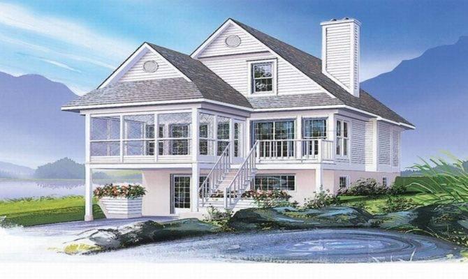 Scintillating Waterfront Home Plans Narrow Lots