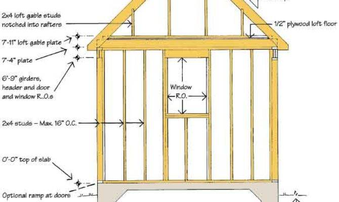 Scle Run Shed Blueprints