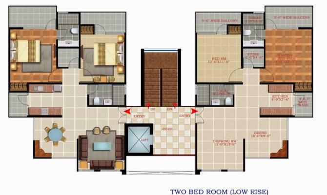 Scottish Garden Floor Plan Bed Room Low Rise Apartment