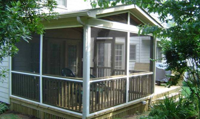 Screen Porch Plans Home Decoration Traditional