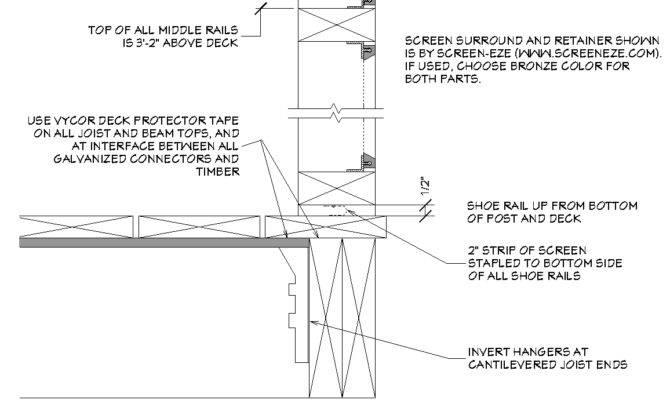 Screened Porch Frame Design Bottom Edge