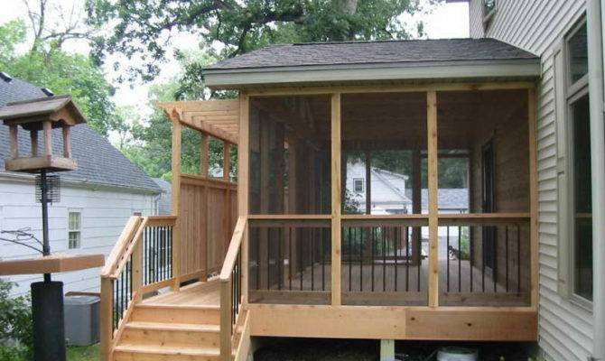 Screened Porch House Ideas Deck Design Backyard Decks Modern