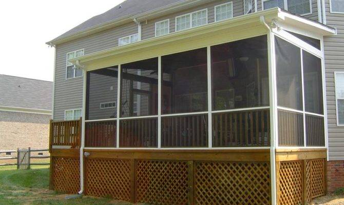 Screened Porches Porch Plans Steps Build
