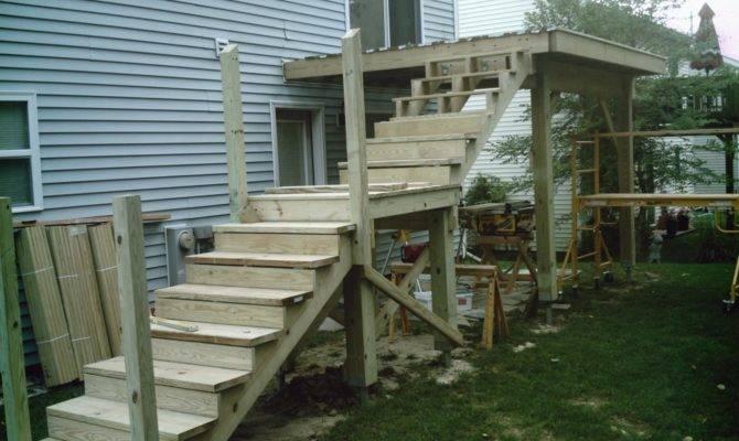 Second Floor Deck Rehab Stairs