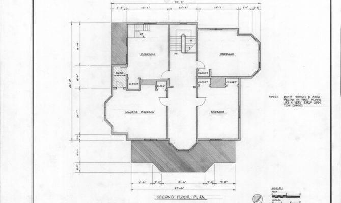 Second Floor Plan John Milton Odell House Concord North Carolina
