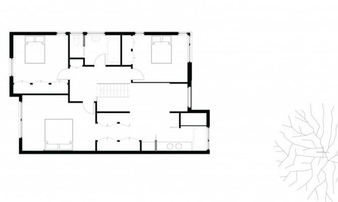 Second Floor Plan Small Modern Home