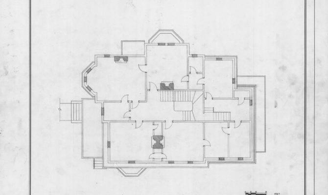Second Floor Plan William Worrell Vass House Raleigh North Carolina