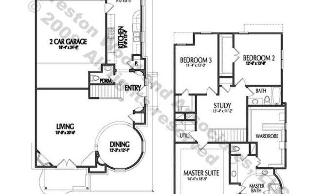 Second Level Townhouse Floor Plan Well Designed