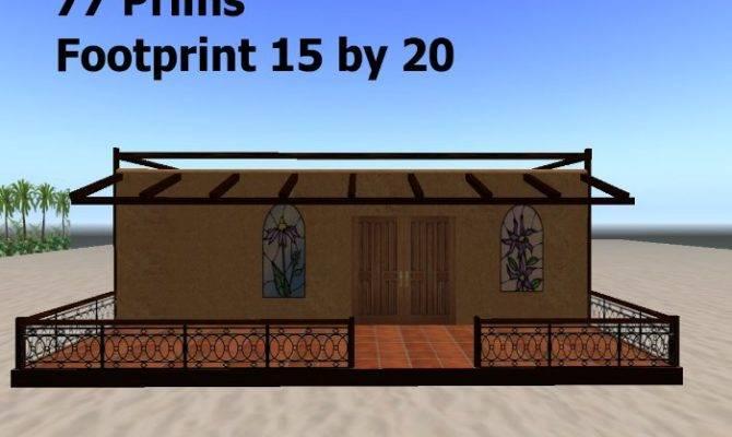 Second Life Marketplace Small House Casita Stucco