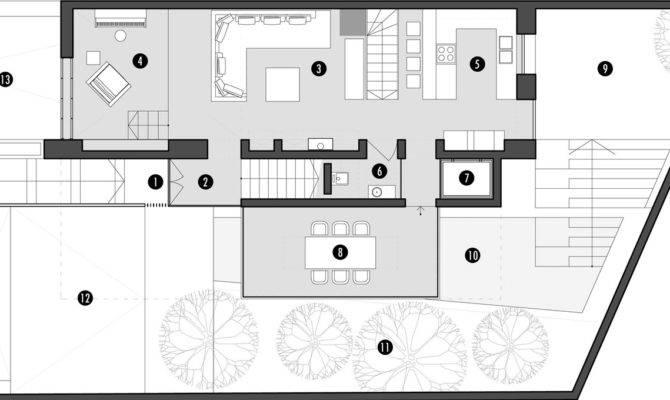 Second Modern House Floor Plan