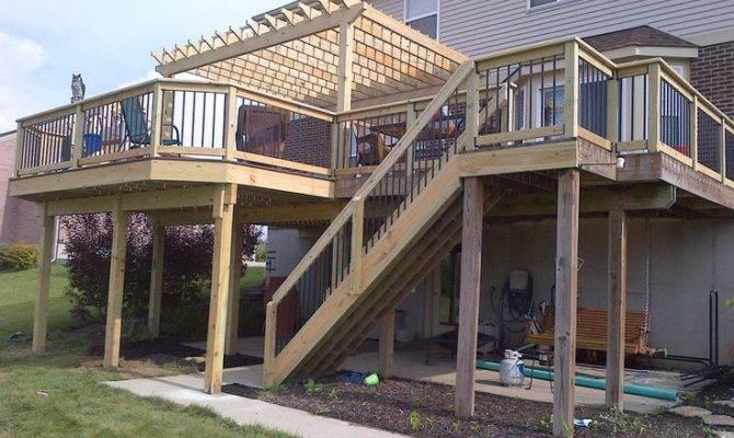 Second Story Deck Pergola Decks Pinterest
