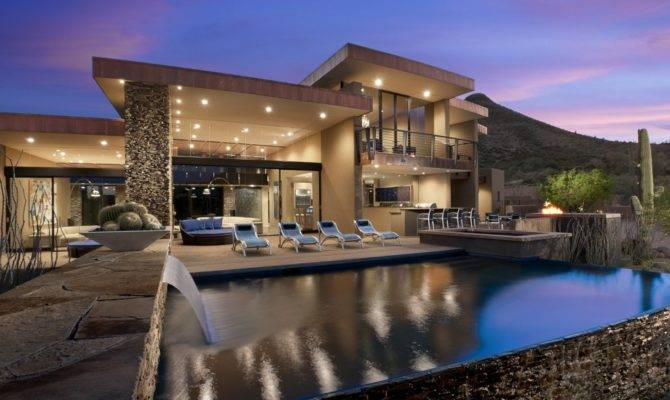 Sefcovic Residence Beautiful Modern House Located Scottsdale