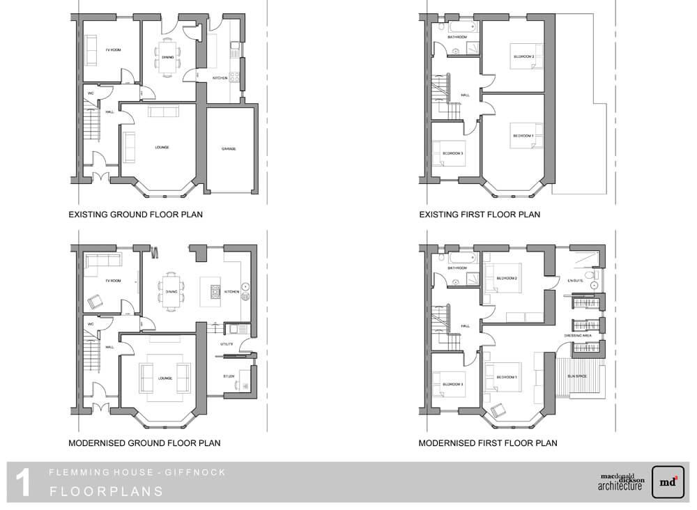 Double Storey Semi Detached House Extension Plans House Storey