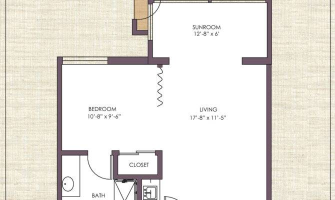Semi Suite Floor Plan Kitchenette Rowntree Gardens