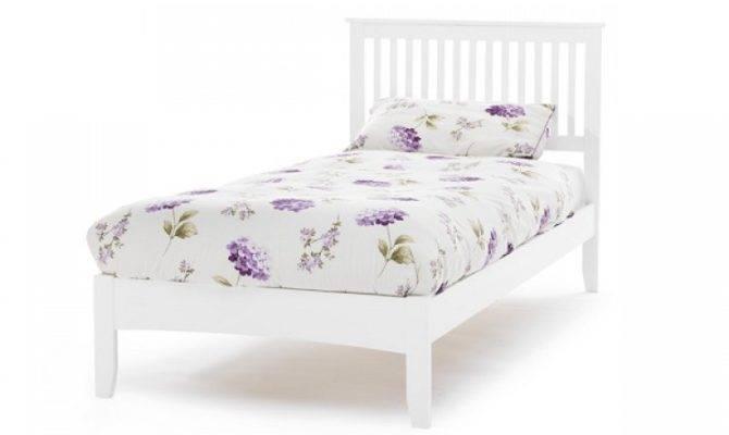 Serene Freya Single White Wooden Bed Frame