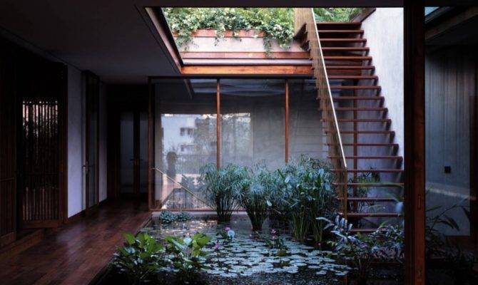 Serene House Courtyard Pond