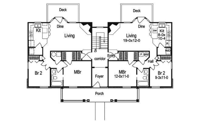 Shadywood Manor Fourplex Home Plan House Plans