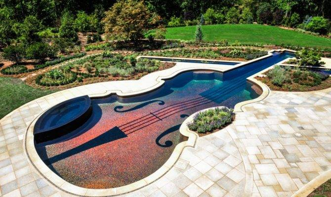Shape Stradivarius Violin Swimming Pool