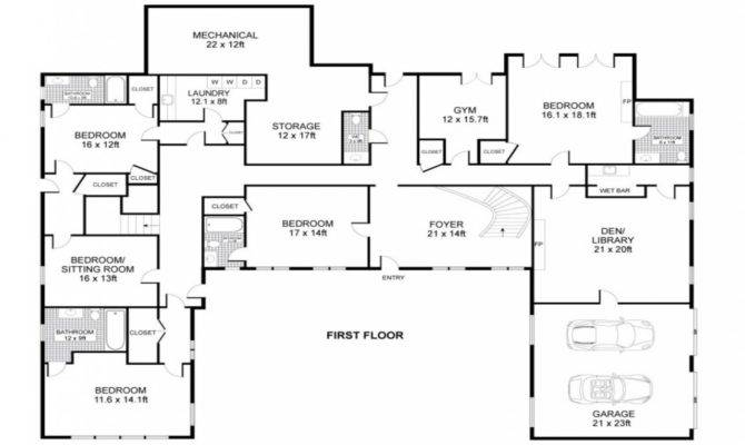 Shaped Home Plans Central Swimming Pool House