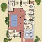 Shaped House Plans Central Courtyard Swimming