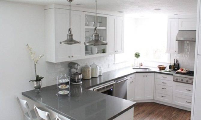 Shaped Kitchen Design Layout Island House Plans 38791