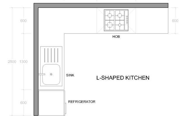 Shaped Kitchen Layout Plan