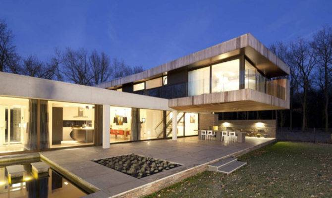 Shaped Modern Villa Netherlands House