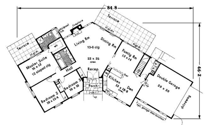 Shaped Ranch House Plans Search Results