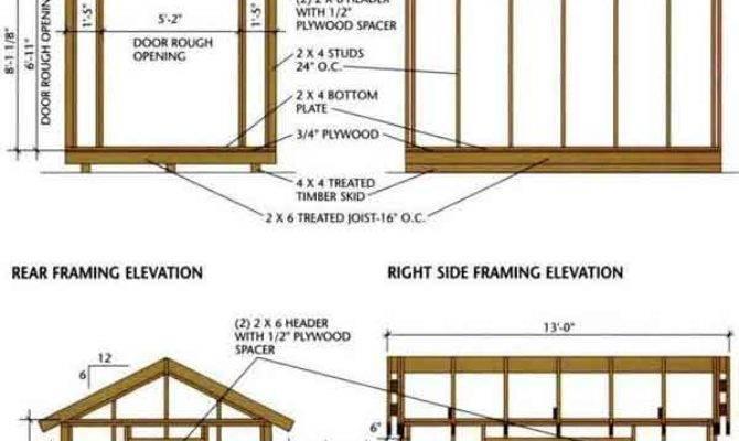 Shed Blueprints Building Wooden Storage