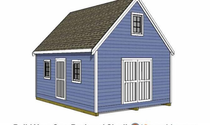 Shed Plans Build Large Storage Diy