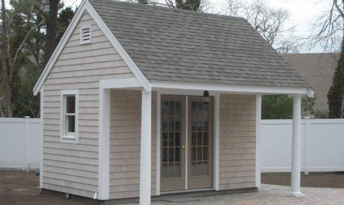 Shed Plans Porch Build Garden Storage
