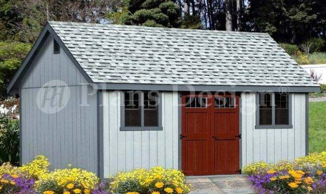 Shed Plans Reverse Gable Roof Style