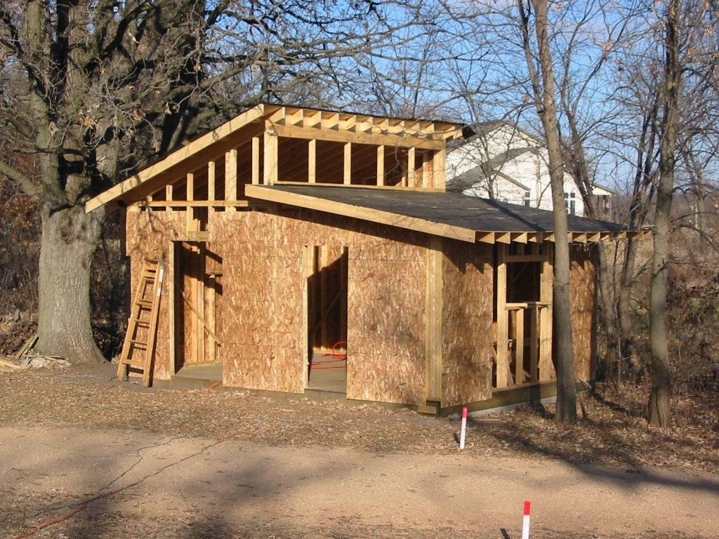 Shed Roof Building Rafters Plans House Plans 12313