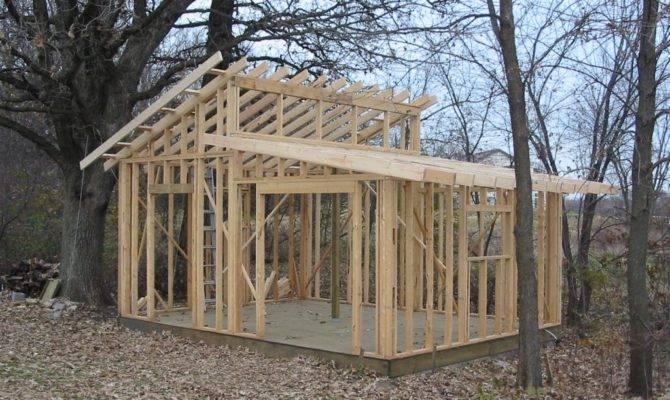Shed Roof Design Plans Storage Diy Garden