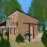 Shed Roof House Floor Plans Cozy Cube Small Plan Home Designs