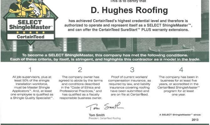 Shinglemaster Certification Proud Among Those Have