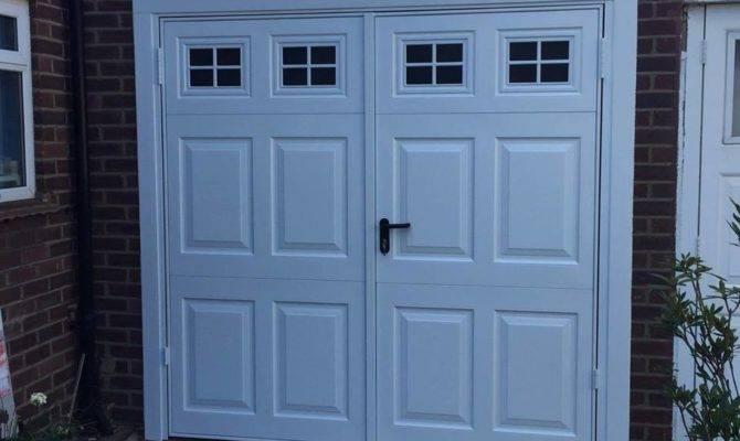 Side Hinged Garage Doors Hung Wooden