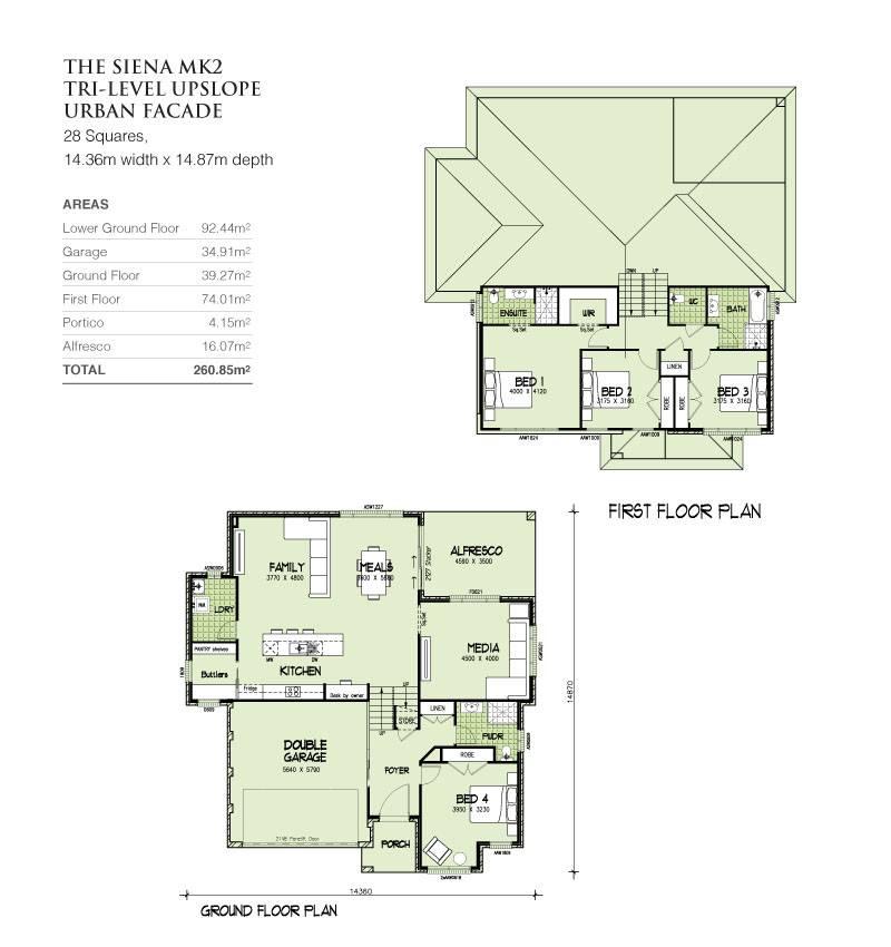 sienna mkii tri level upslope squares home design house