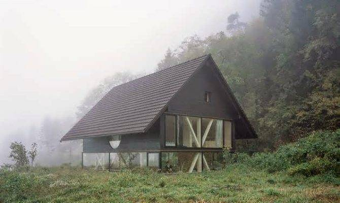 Simple Barn Shaped House Design Blasthal Switzerland